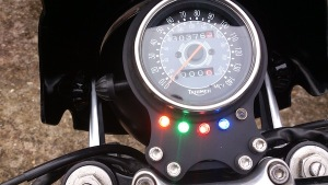 Single Speedo Bracket & Lights