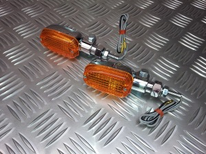 Alloy & Amber Indicator's from Triumph Custom Parts