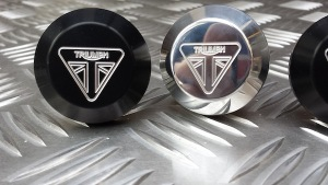 Foot Rest Eliminator Plates Engraved from Triumph Custom Parts